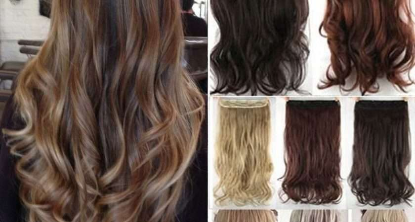 One Piece Head Clip Thick Human Hair Extensions