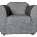One Seater Signature Grey Print Sofa Cover Sure Fit
