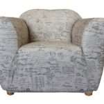 One Seater Signature Natural Print Sofa Cover Sure Fit