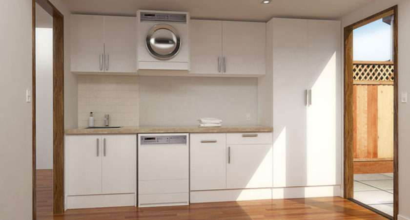 Open Plan Custom Laundry Cabinets Built Cupboards