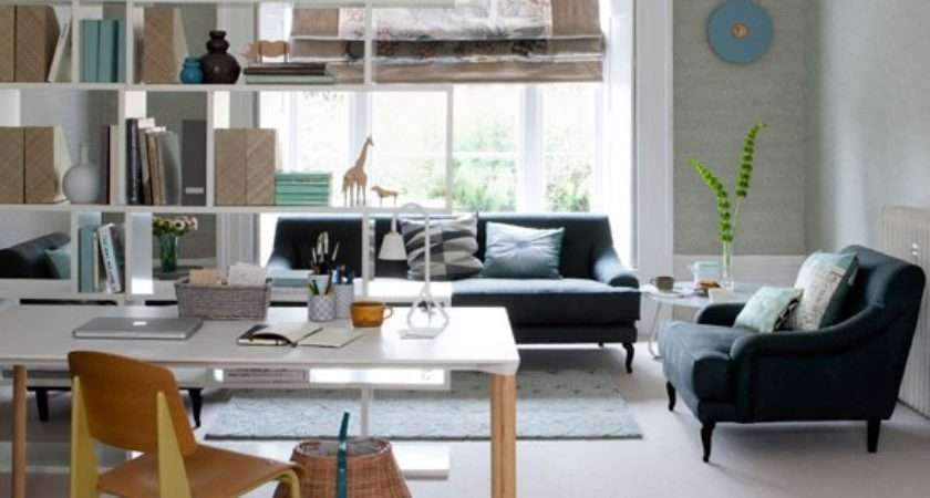 Open Plan Home Office Functional Living Room Ideas