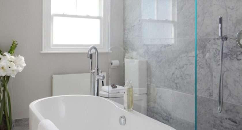 Open Shower Ideas Modern Bathroom Laura Hammett