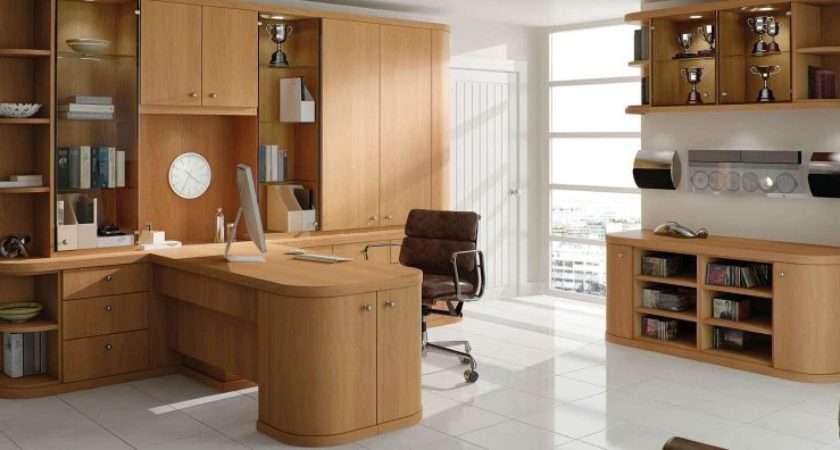 Optima Natural Oak Contemporary Home Office Strachan