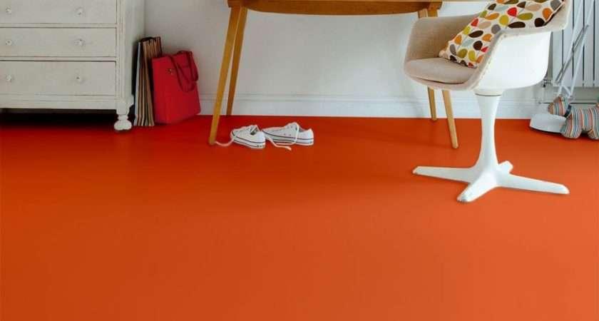 Orange Appeal Shades Vinyl Flooring Buy Plain