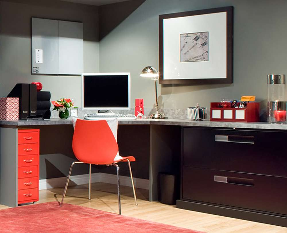 Orange Home Office Furniture Ideas Interior Design Architecture