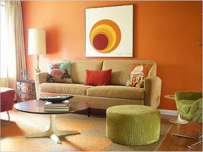 Orange Paint Colors Yellow Living Room
