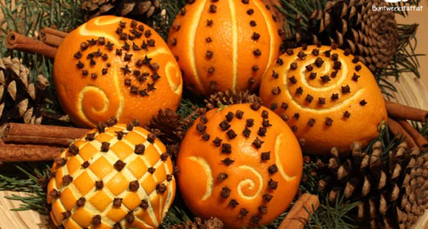 Oranges Cloves Pomanders Christmas Colorful Crafts