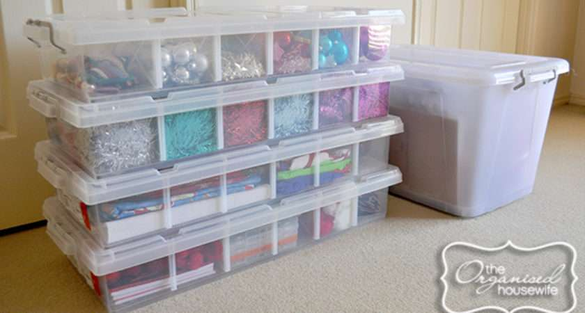 Organising Storing Christmas Decorations
