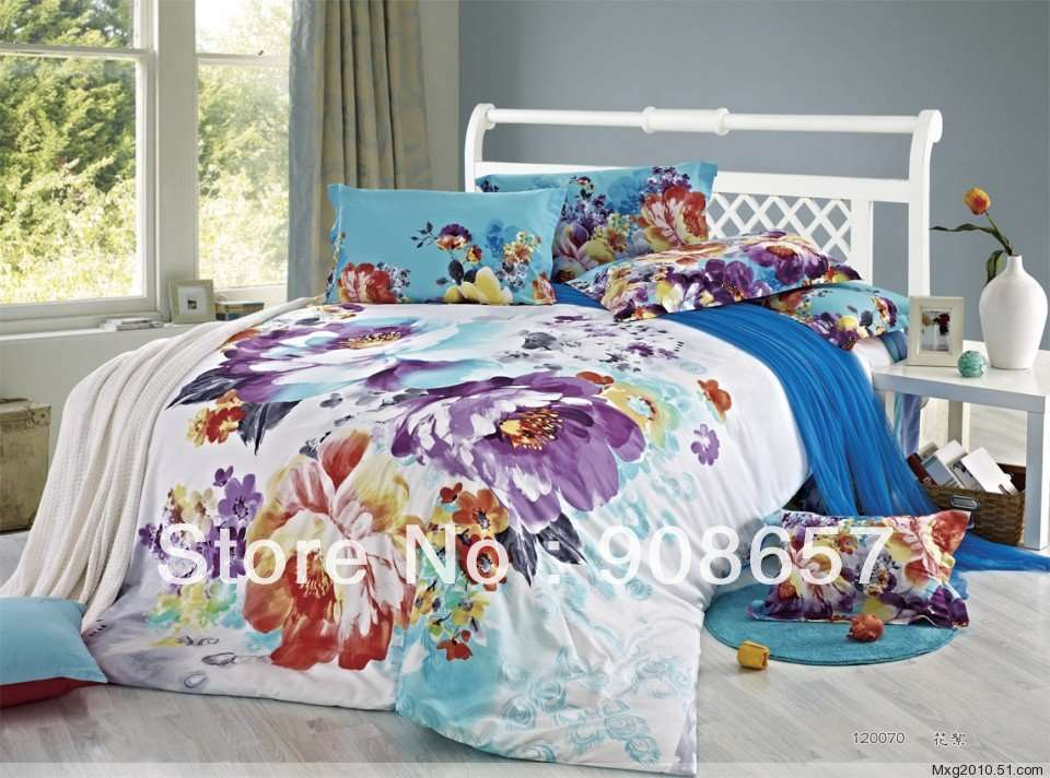 Oriental Prints Cotton Bedlinen Cheaper Bedding Set Duvet Covers