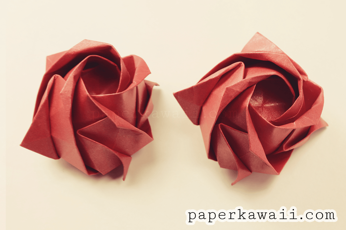 Origami Kawasaki Rose Video Tutorial Paper Kawaii