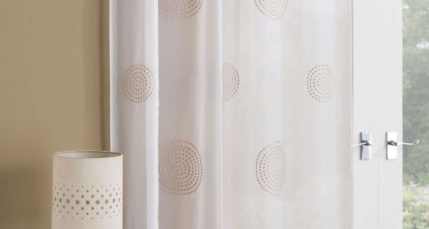 Orion Modern Voile Curtain Panel Ready Made