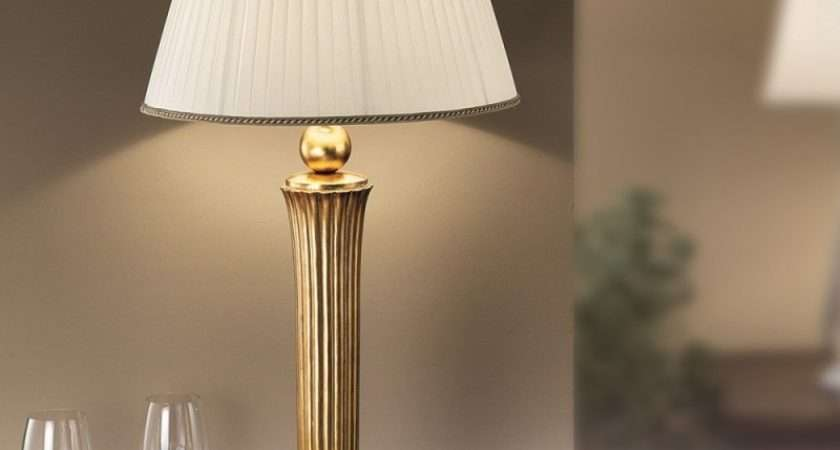 Orion Nechnitz Antique Gold Table Lamp Lighting Deluxe