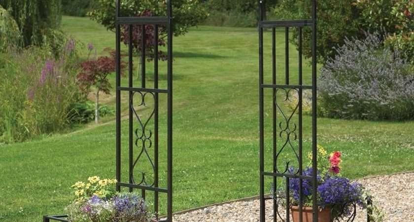 Ornamental Metal Round Top Garden Planter Arch Westmount
