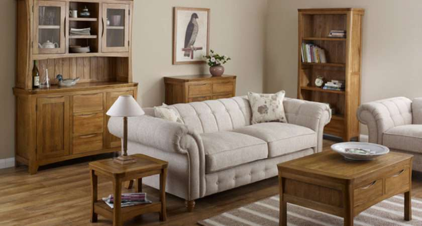 Orrick Rustic Solid Oak Living Room Traditional