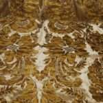 Osts Regency Silk Cut Velvet Leatherized Damask Fabulous Rich