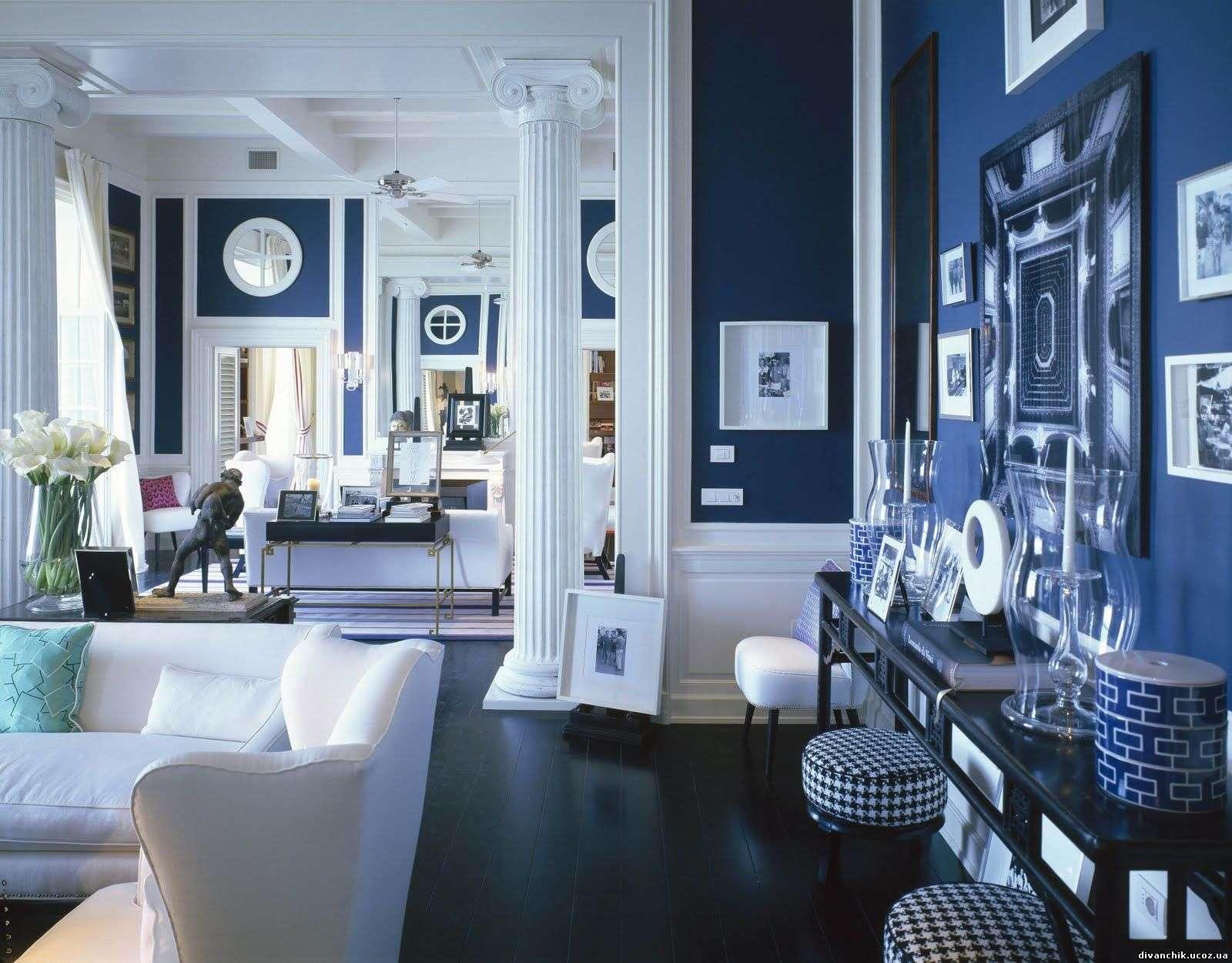 Other Design Inspiring Large Open Navy Blue Bedroom White Wing