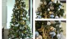 Our Gold White Christmas Tree Pop Pretty Blog