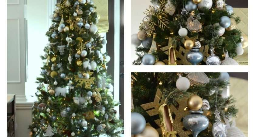 Our Gold White Christmas Tree Pop Pretty Blog
