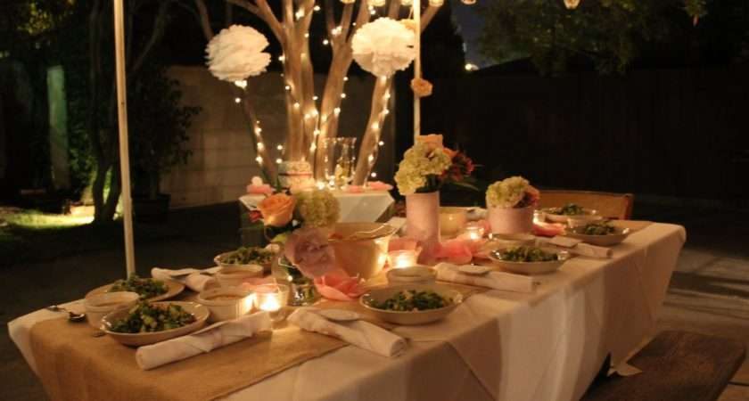 Outdoor Champagne Soir Simple Elegant Birthday Party