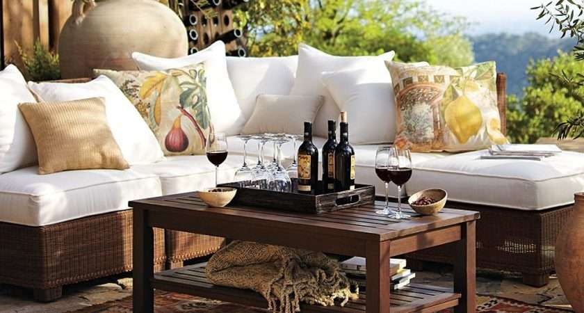 Outdoor Garden Furniture Comfy Rustic Yet Refined Style
