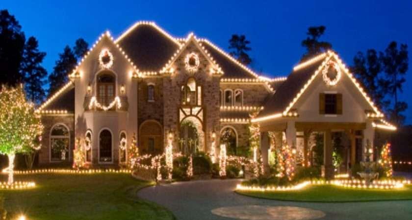 Outdoor Lighting Homes Christmas Lights Border