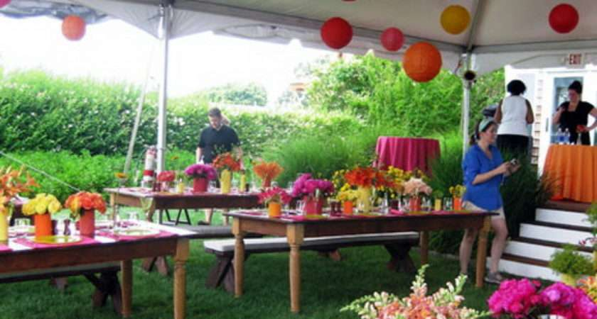 Outdoor Party Decorations Favors Ideas