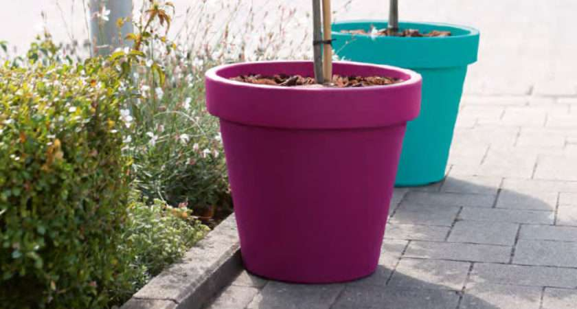 Outdoor Plant Pots Varied Colourful Your Plants