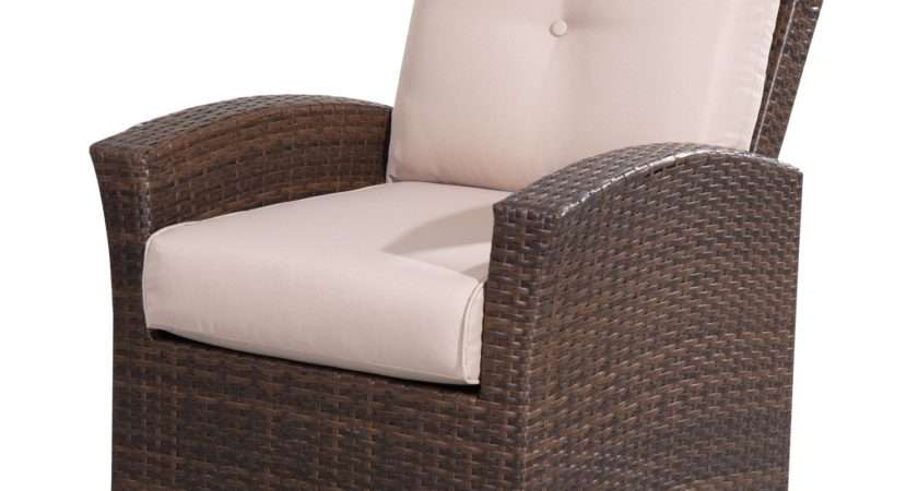 Outsunny Rattan Armchair Mixed Brown Khaki Aosom
