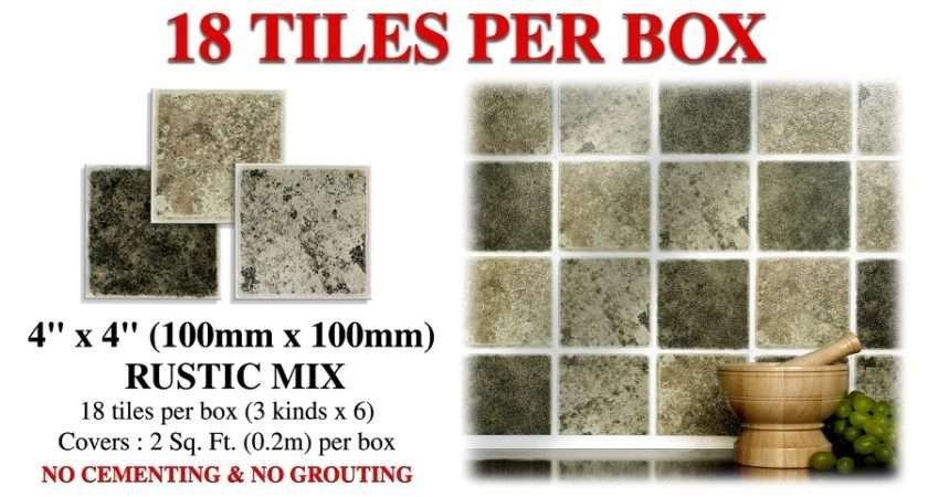 Pack Textured Rustic Mix Tiles Variations Grey