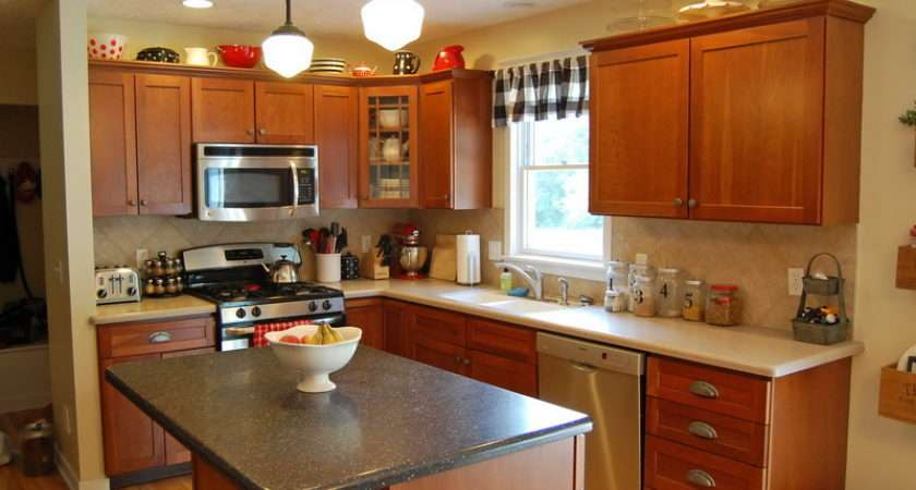 Paint Ideas Kitchen Colors Wall Color Blue Oak Cabinets