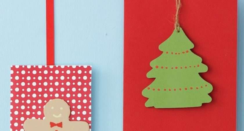 Paint Wood Shapes Make Your Own Christmas Cards