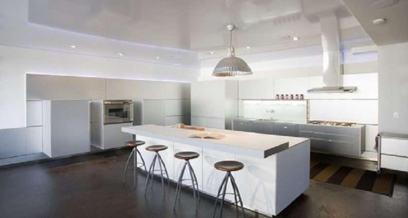 Painted Concrete Floor Designs Modern Kitchen