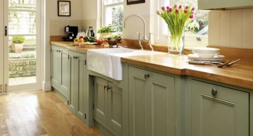 Painted Kitchen Step Inside Traditional Soft Green