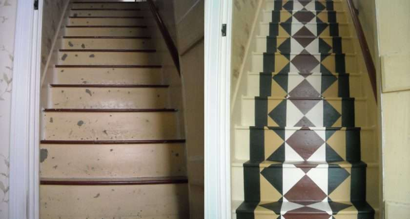 Painted Stair Runner Final Result Stuff Pinterest