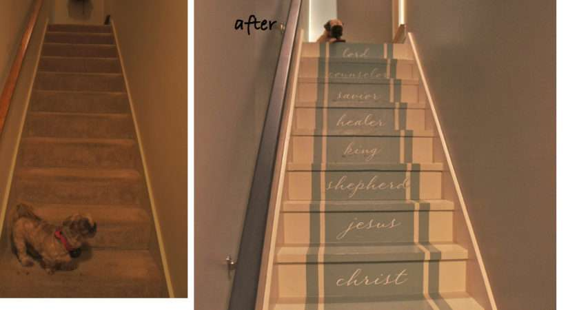 Painted Stairs Stair Makeover