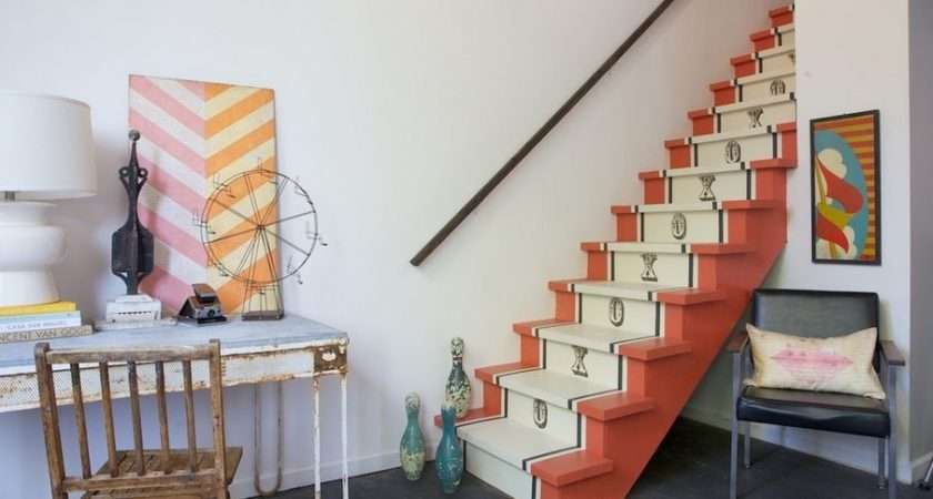 Painted Vintage Runner Stairs Home Decorating Trends Homedit