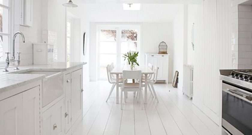 Painted White Floorboards Shabby Chic Style Heart