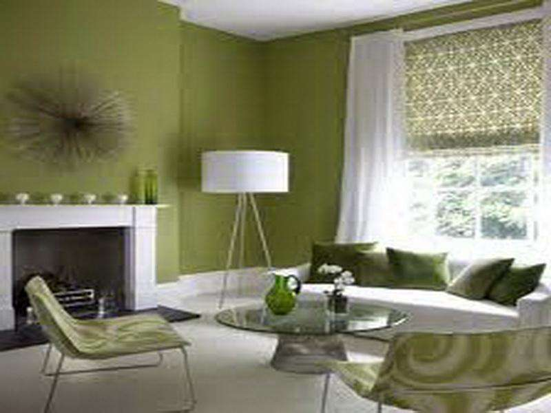 Painting Ideas Living Rooms Green White Combining Stroovi