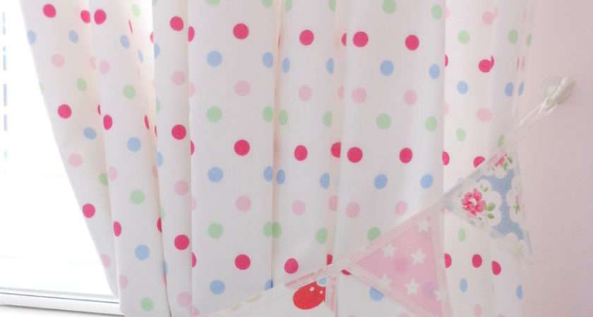 Pair Cath Kidston Fabric Mini Bunting Curtain Tie Backs