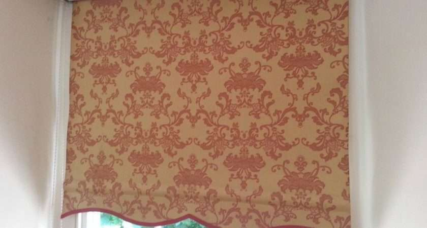 Pair Laura Ashley Fully Lined Roller Blinds United Kingdom