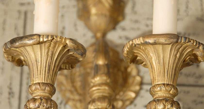 Pair Light Bronze Sconce Sale Stdibs