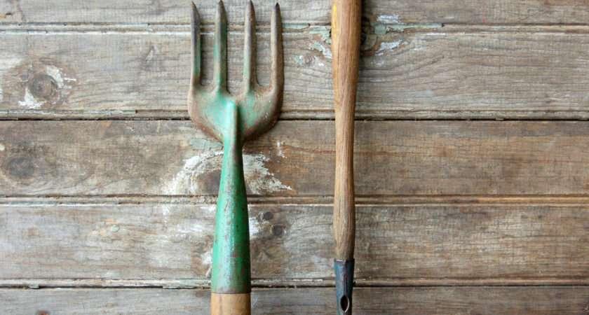 Pair Vintage Garden Tools Rootedinvintage Etsy