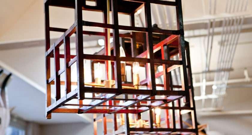 Pair Vintage Japanese Peddlers Cage Chandeliers Sale
