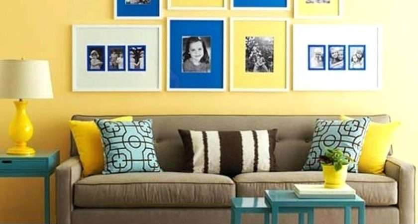 Pale Yellow Blue Living Room Modern Home Design Ideas