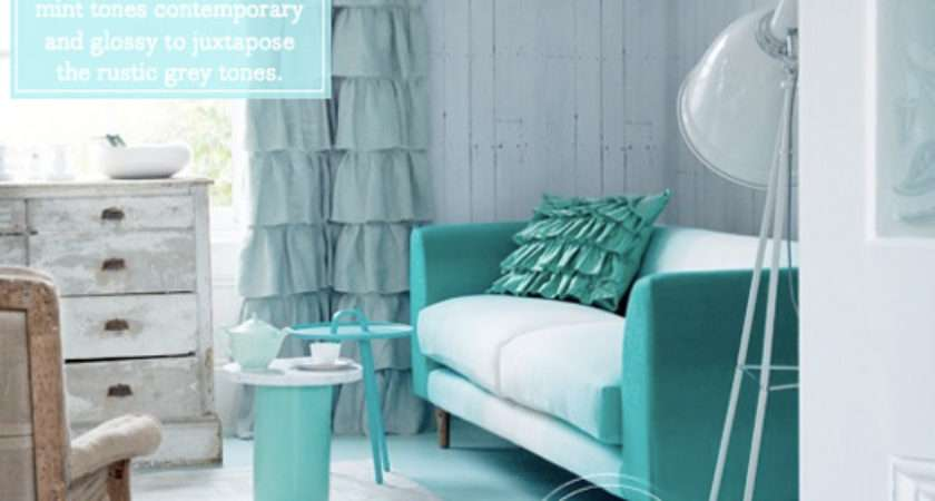 Palette Addict Chic Mint Grey Living Room Bright