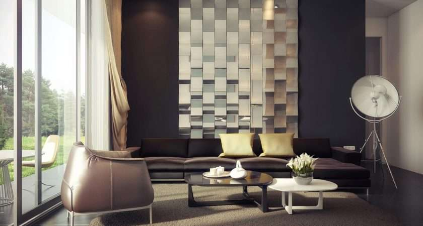 Palette Living Mirrored Feature Wall Interior Design Ideas