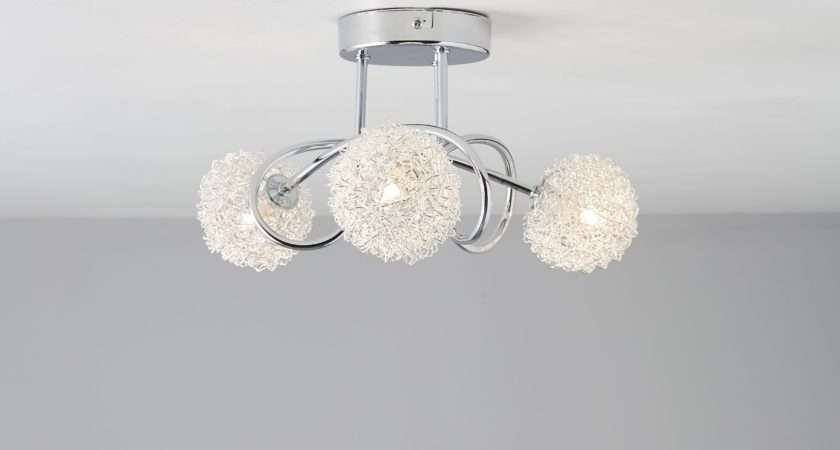 Pallas Chrome Effect Lamp Ceiling Light Departments Lentine Marine