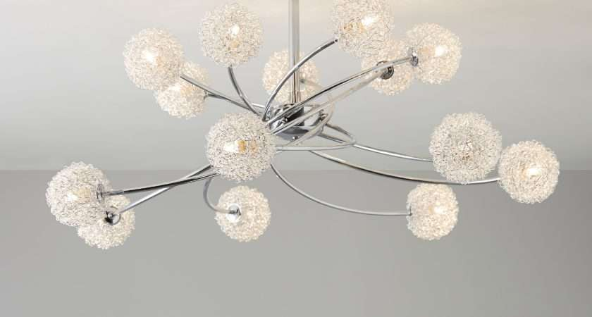 Pallas Chrome Effect Lamp Ceiling Light Departments