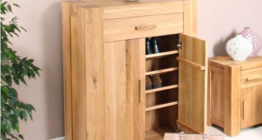 Palma Solid Chunky Oak Hallway Furniture Shoe Storage
