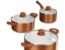 Pan Set Copper Style Various Designs Westfalia